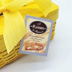 Servettbox med cantuccini (gul)