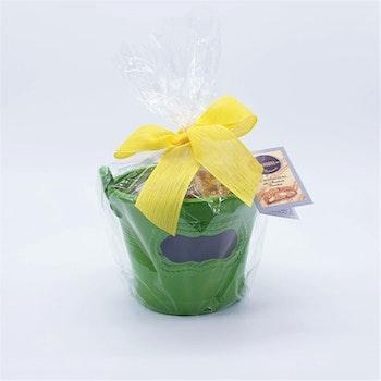 Blomkruka med cantuccini (grön)