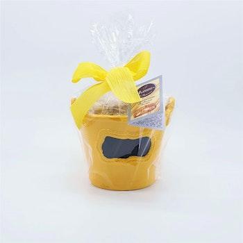 Blomkruka med cantuccini (gul)