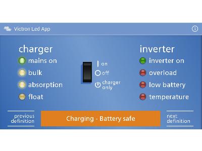 Vad betyder LED indikatorn på din Victron Energy produkt?