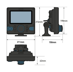 Ocean Signal 760S-02697 - ATA100, AIS klass A transponder 7tum integrerad färgdisplay, AIS-MOB-alarmfunktion