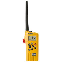 Ocean Signal 720S-00632 - SafeSea V100A GMDSS bärbar VHF-radio, 21 simplexkanaler Li-batteri, laddbart batteri, ext audio