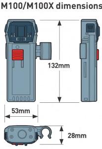Ocean Signal 742S-02088 - M100X, Professionell MOB-sändare med AIS och 121.5 MHz pejlsignal, 12+ tim driftstid, ATEX.