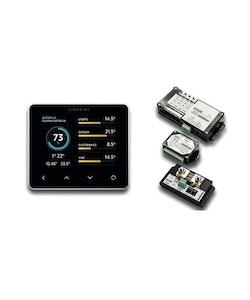 SIMARINE PCKG3PB - PICO Blue paket (PICO+3), panelmontering, svart, wifi. Inkl 1x SC501 shunt, 1x ST107, 1x SCQ25, barograf