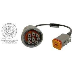 Yacht Devices CATERPIL-D9 - Caterpillar rund 9-pin adapterkabel för YDEG-04