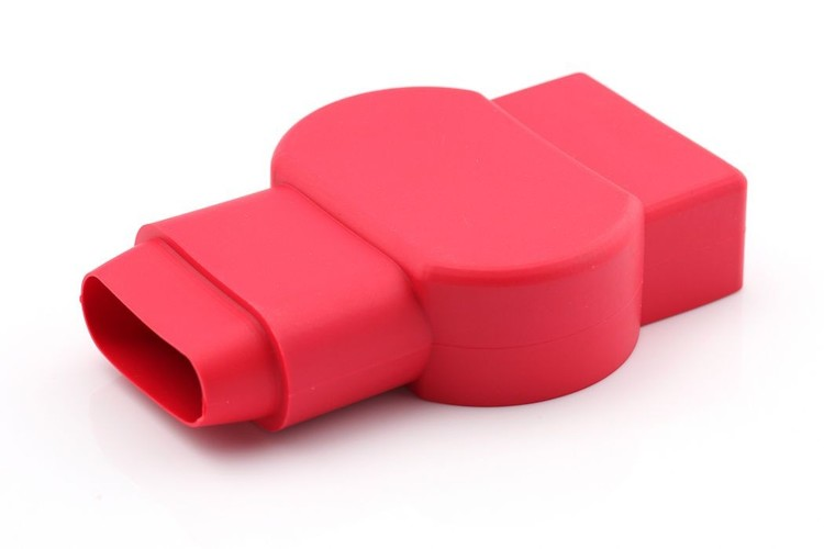 Anslutningsskydd batteripol 4/0 AWG, röd