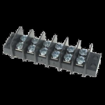 Terminalblock, 6 st skruvpar (24-12 AWG). Max 300V/20A