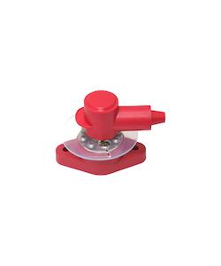 Kopplingsplint PowerPost M8, röd. Inkl gummiskydd och isolaton