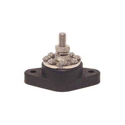 Kopplingsplint PowerPost M8, svart. Inkl gummiskydd och isolaton