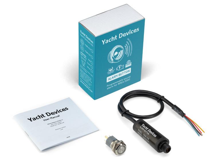 Yacht Devices YDAB-01N - Larmenhet för NMEA 2000. Inkl knapp med LED-indikering. Ansluts till en högtalare (ingår ej)