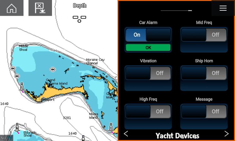 Yacht Devices YDAB-01R - Larmenhet för SeaTalkNG. Inkl knapp med LED-indikering. Ansluts till en högtalare (ingår ej)