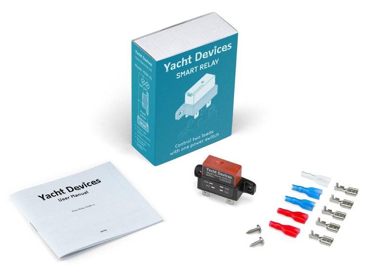 Yacht Devices YDSR-01 - Smart Relay 12V, 8A. För styrning av två förbrukare med en tvåledarkabel