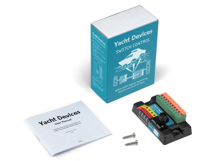 Yacht Devices YDSC-04N - Strömbrytarenhet NMEA 2000. Styr 4 kanaler från strömbrytare anslutna till enheten, se status via LED