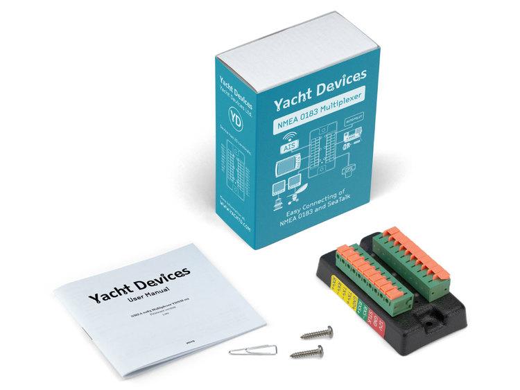 Yacht Devices YDNM-02 - NMEA 0183 Multiplexer, 5 NMEA 0183 portar, 1 SeaTalk, autohastighet eller ställbar hastighet, filtrering