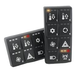 EmpirBus 2600000 - EmpirBus SP8 vertikal kontrollpanel 4x2 knappar inkl gravering.* Ansluts till 2110111