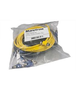 Maretron Cable-Start-Kit - Kabelsats NMEA 2000. 1xPowertap, 2xT-kontakt, 2x2m kabel 1x10m kabel, 2x han-termineringar, Lite-modell
