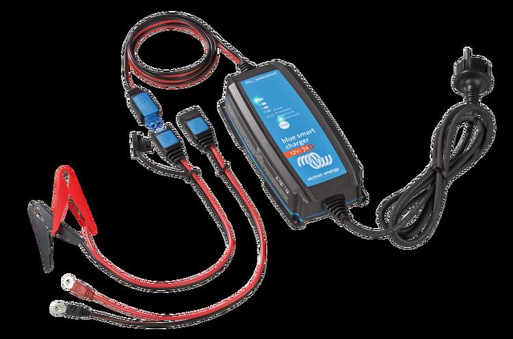 Victron Energy BPC120731064R - Blue Smart IP65 batteriladdare, 12V/7A, Bluetooth, 7-stegs laddning, för Lithium och blybatterier