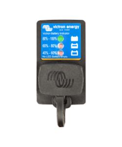 Victron Energy BPC900110114 - Batteriindikator med anslutning för IP65-serien, panelmontering, M8-anslutning/30A säkring