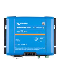 Victron Energy PSC123053085 - Phoenix Smart IP43 Charger 12/30(3) 230V, 5-stegsladdare med tre utgångar, Bluetooth, exkl kabel