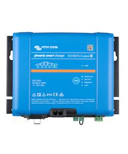 Victron Energy PSC125051085 - Phoenix Smart IP43 Charger 12/50(1+1) 230V, 5-stegsladdare med 1+1 utgångar, Bluetooth, exkl kabel