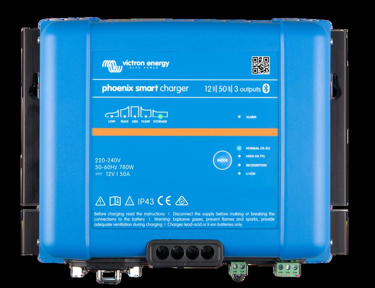 Victron Energy PSC241653085 - Phoenix Smart IP43 Charger 24/16(3) 230V, 5-stegsladdare med 3 utgångar, bluetooth, exkl kabel