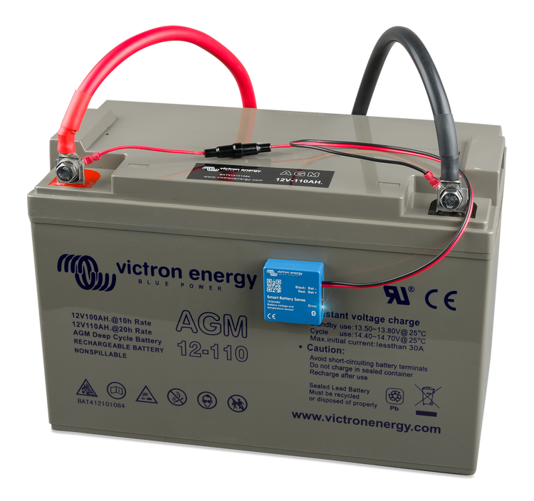 Victron Energy SBS050150200 - Smart Battery Sense. Mäter volt/temp på batterier, ansluts till MPPT-regulatorer med Bluetooth, lång räckvidd (10 m)