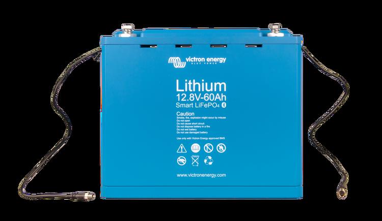 Victron Energy BAT512060410 - Lithium-batteri 12,8V/60Ah, Smart Bluetooth. LxBxH: 285x132x24