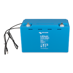 Victron Energy BAT512110610 - Lithium-batteri 12,8V/100Ah, Smart Bluetooth LxBxH: 321x152x19