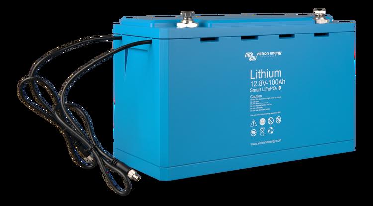 Victron Energy BAT512110610 - Lithium-batteri 12,8V/100Ah, Smart Bluetooth LxBxH: 321x152x19