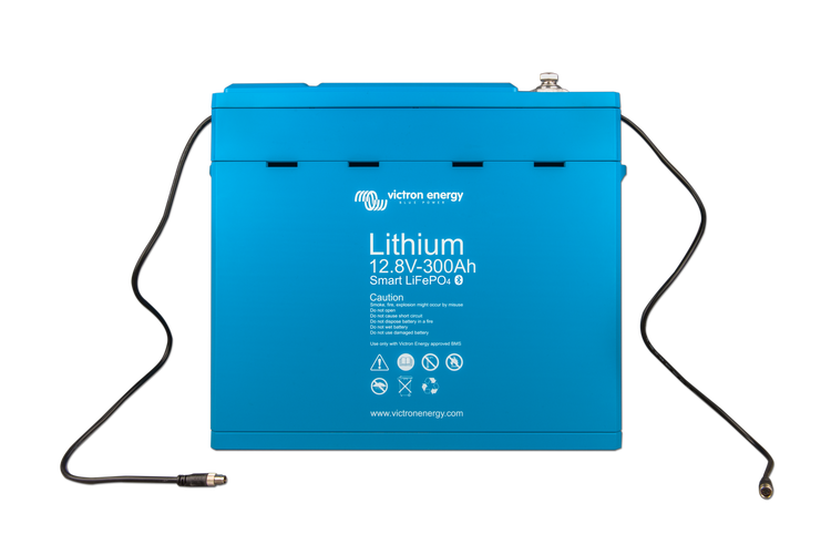 Victron Energy BAT512130410 - Lithium-batteri 12,8V/300Ah, Smart Bluetooth LxBxH: 425x274x34