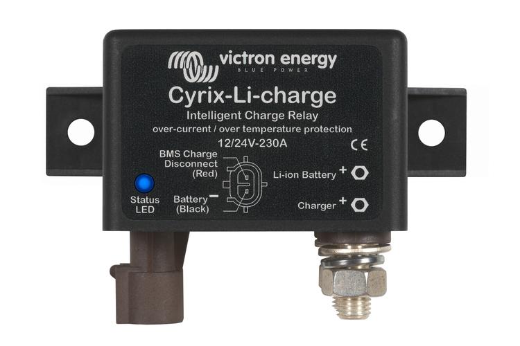 Victron Energy CYR010230430 - Cyrix-Li-charge 12/24-230A, laddningsrelä för lithium-batterier (utan startbatteri)