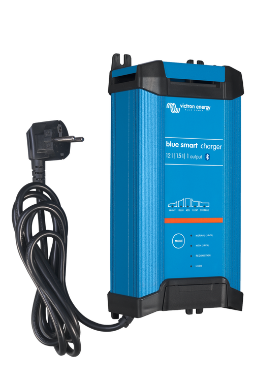 Victron Energy BPC121542002 - Blue Smart IP22 batteriladdare. 12V/15A, 1 utgång.  Bluetooth. 7-stegs laddning. För Lithium och blybatterier