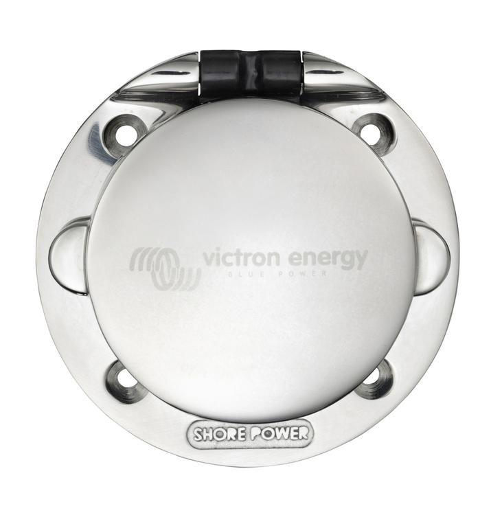 Victron Energy - Landströmsintag 32A/250V IP67, rostfritt stål
