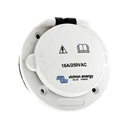 Victron Energy SHP301603000 - Landströmsintag, 16A/250V. IP67, polyamidplast
