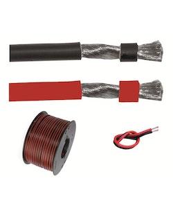 Förtent kabel 2x6 mm2 röd/svart, 4m