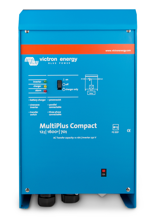 Victron Energy CMP121620000 - MultiPlus Compact 12/1600/70-16, 230V, VE.Bus