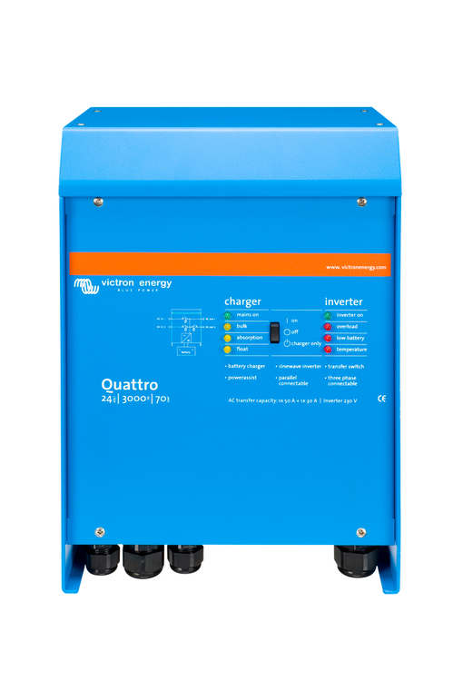 Victron Energy QUA243020010 - Quattro 24/3000/70-50/50, 230V, VE.Bus