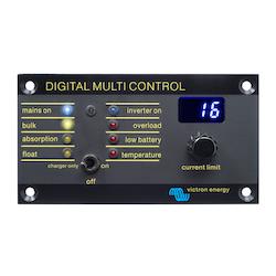 Victron Energy REC020005010 - Digital Multi Control 200/200A, kontrollpanel för Multi och Quattro, svart metall