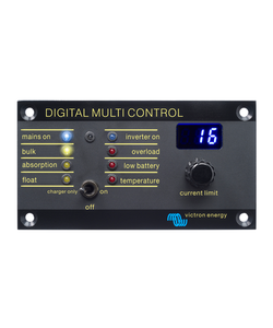 Victron Energy REC020005010 - Digital Multi Control 200/200A, kontrollpanel för Multi och Quattro, svart metall