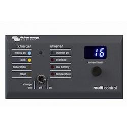 Victron Energy DMC000200010R - Kontrollpanel Digital Multi Control 200/200A GX. Grå plast, RJ45 vinklad till höger