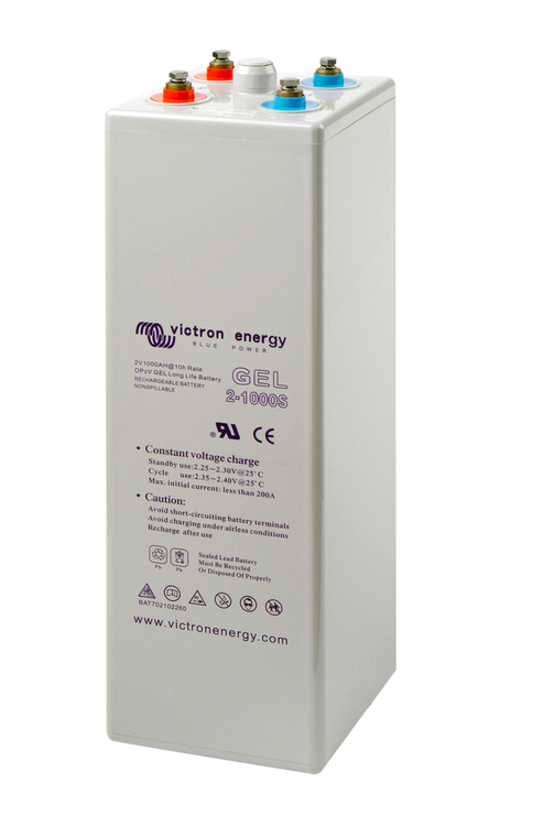 Victron Energy BAT702801260 - GEL-batteri 2V/800 Ah, OPzV tubular