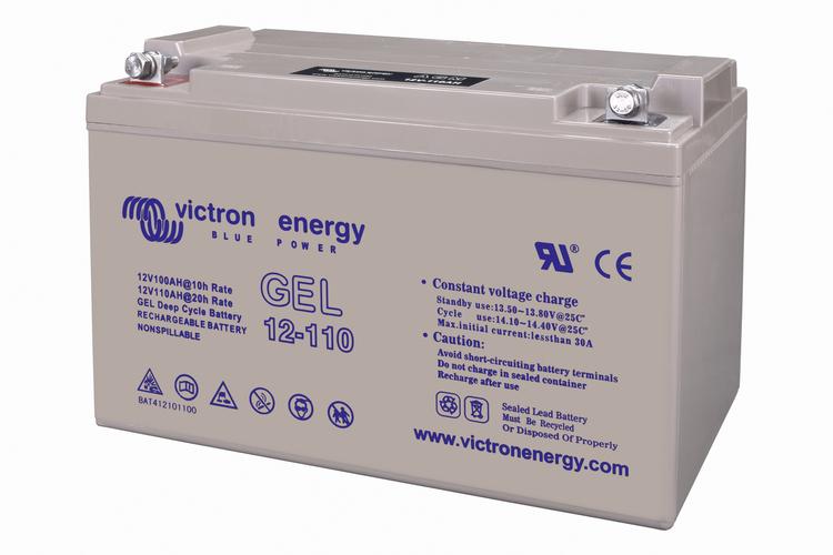 Victron Energy BAT412101104 - GEL-batteri 12V/110 Ah CCA (SAE) 550A