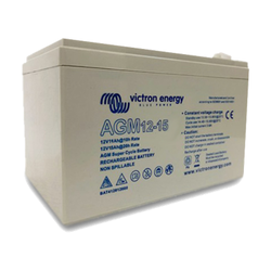 Victron Energy BAT412015080 - AGM Super Cycle-batteri 12V/15Ah, (Faston-tab 6.3x0.8mm)