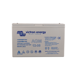 Victron Energy BAT412038081 - AGM Super Cycle-batteri 12V/38Ah, CCA (SAE) 280, M5-gänga