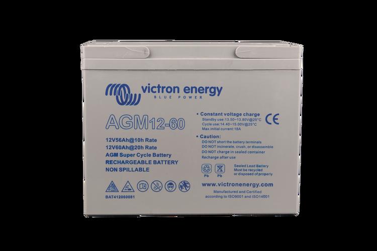 Victron Energy BAT412060081 - AGM Super Cycle-batteri 12V/60Ah CCA (SAE) 280, M5-gänga