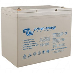 Victron Energy BAT412110081 - AGM Super Cycle-batteri 12V/100Ah, CCA (SAE) 500, M6-gänga