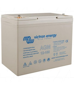 Victron Energy BAT412110081 - AGM Super Cycle-batteri 12V/100Ah, CCA (SAE) 500, M6-gänga