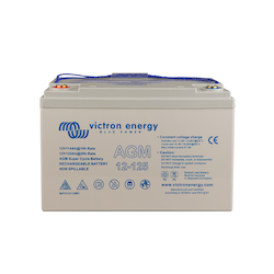 Victron Energy BAT412112081 - AGM Super Cycle-batteri 12V/125Ah  CCA (SAE) 550, M8-gänga