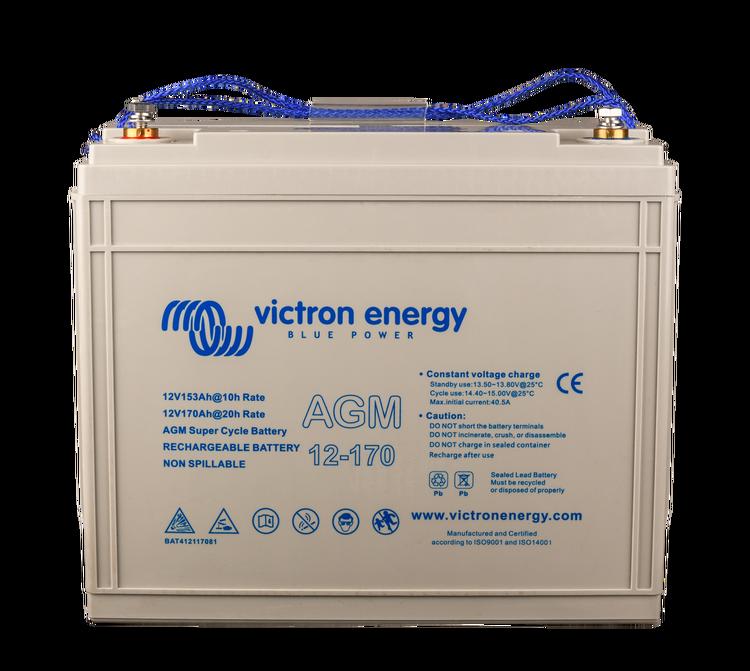 Victron Energy BAT412117081 - AGM Super Cycle-batteri 12V/170Ah  CCA (SAE) 600, M8-gänga