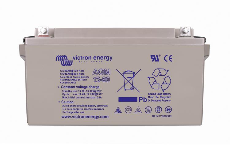 Victron Energy BAT412800084 - AGM Deep Cycle Batt, 12V/90Ah
